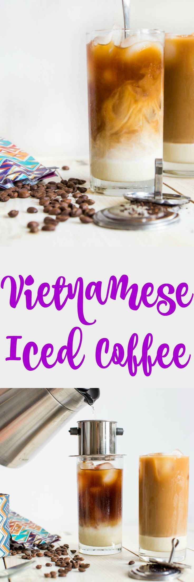 Vietnamese Iced Coffee is a refreshing beverage made from strong dark roast coffee, creamy sweetened condensed milk, and ice. It�s intense and delicious!