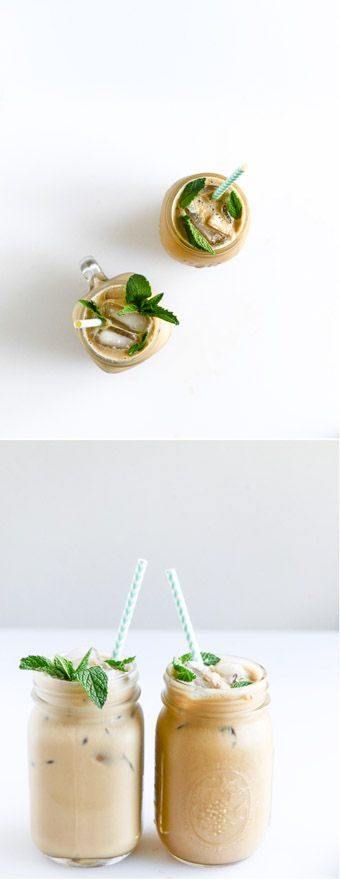 Fresh Mint Iced Coffee! by @howsweeteats I howsweeteats.com