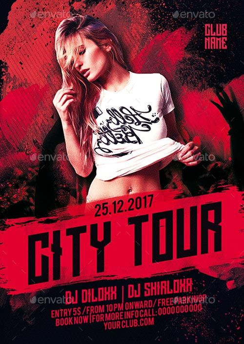 Best Club And Party Flyer Images On   Flyer Design
