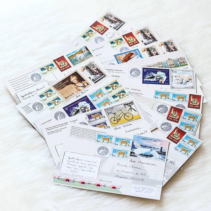 """#outgoing #postcard #postagestamps  13 открыток для дорогих подписчиков паблика """"Бумажные письма"""" :)"""