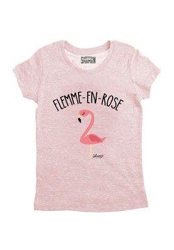 """Tee shirt """"Flemme en Rose"""""""