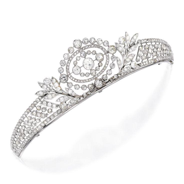 Platinum and Diamond Tiara | lot | Sotheby's
