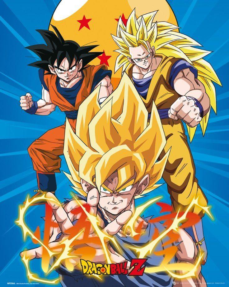Dragon Ball Z SS Goku Graphic Mini Poster Picture Print 40x50cm Anime Manga