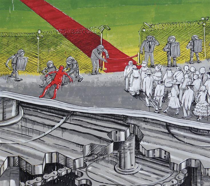 Les Peintures murales de Blu en Italie évoquent les Problèmes environnementaux (2)