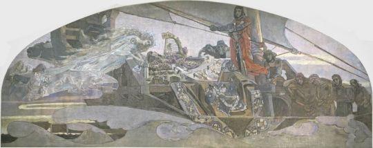 Vrubel, Mikhail Aleksandrovich  The Princess of the Dream