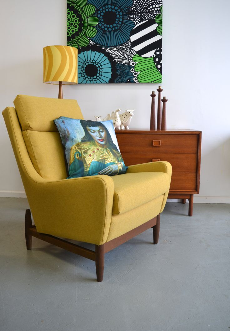 Australian designed and made 60's Wrightbilt armchairs, restored by www.tangerineandteal.com