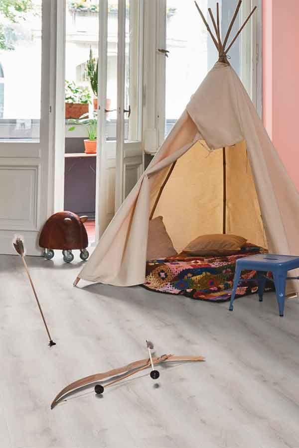 Ein Kinderzimmer Mit Laminat Von Parador U2013 Die Laminat Diele Eiche Askada  Wurde Hier Als Fußboden Verlegt.   Laminat   Pinterest