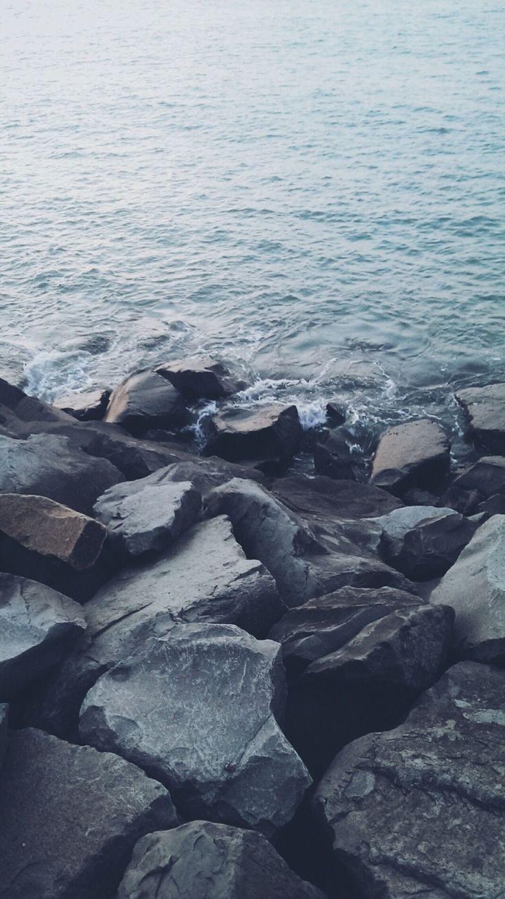 Nature Shore Rocky Stone Seaside #iPhone #6 #plus #wallpaper