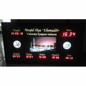 Jam digital masjid jual jadwal sholat digital otomatis murah Unikom
