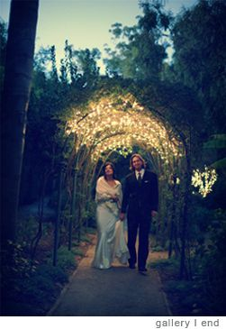 Fairy Lights in an Arbor - Wedding Night pictures. Gia Canali Photography | Weddings - //