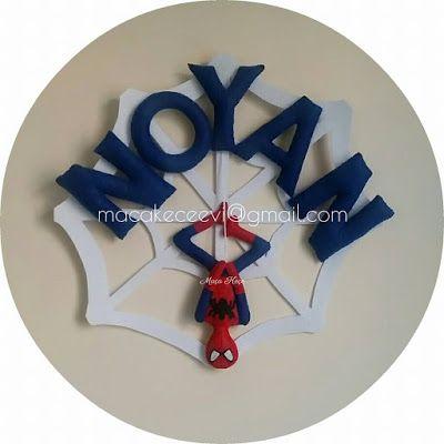 Keçe Örümcek Adam Kapı Süsü / Felt Spiderman