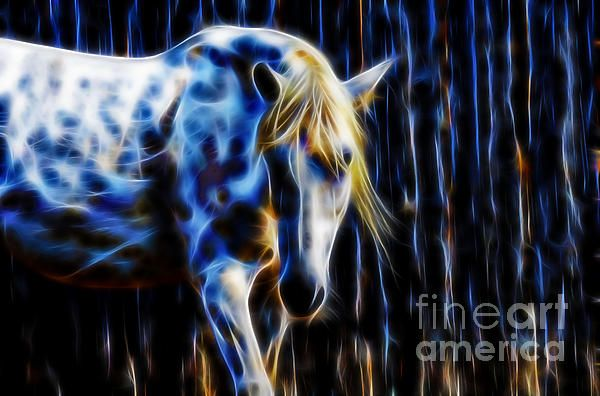 White Horse Fractal image by Tracey Lee Art Designs