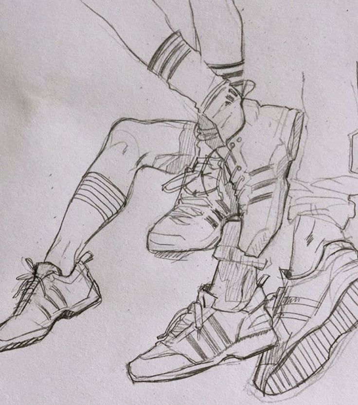 Shoe sketch guide (Instagram)