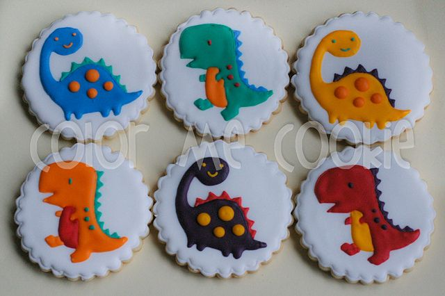 Color Me Cookie: dinosaurios