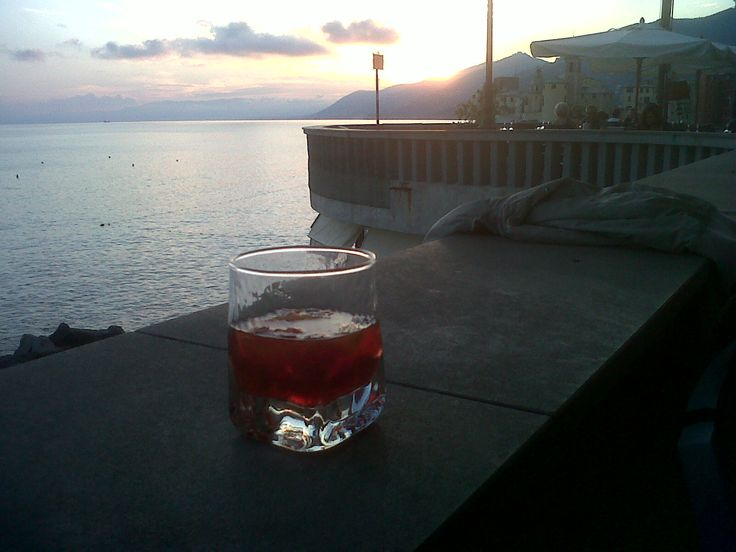 Negronis in Camogli harbour