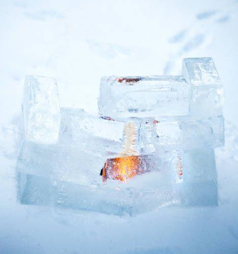 Jäälyhty maitopurkeista | Ice lantern from milk cartons