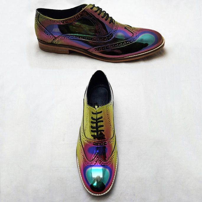 High-end Silver/Gold/Holographic Brogue Shoes for men/women by Luke Grant-Muller — Kickstarter