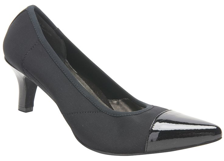 Black Keisha Pump by Ros Hommerson by Drew