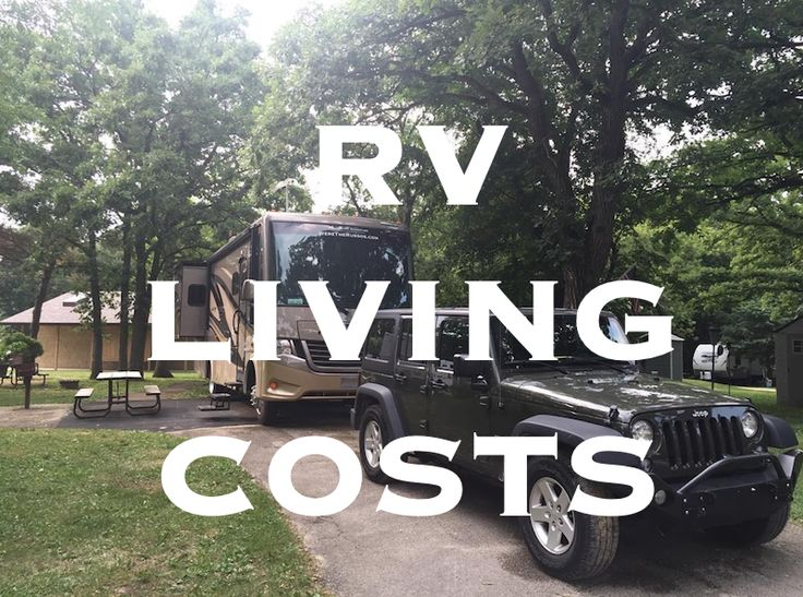 This is a summary of our RV living costs. We are two adults and one large dog living in a motorhome full time towing a Jeep Wrangler.