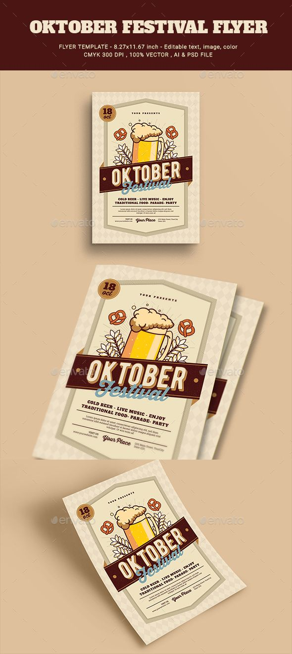 october festival flyer photoshop psd pub event available here https - Halloween Decoration Stores Near Me