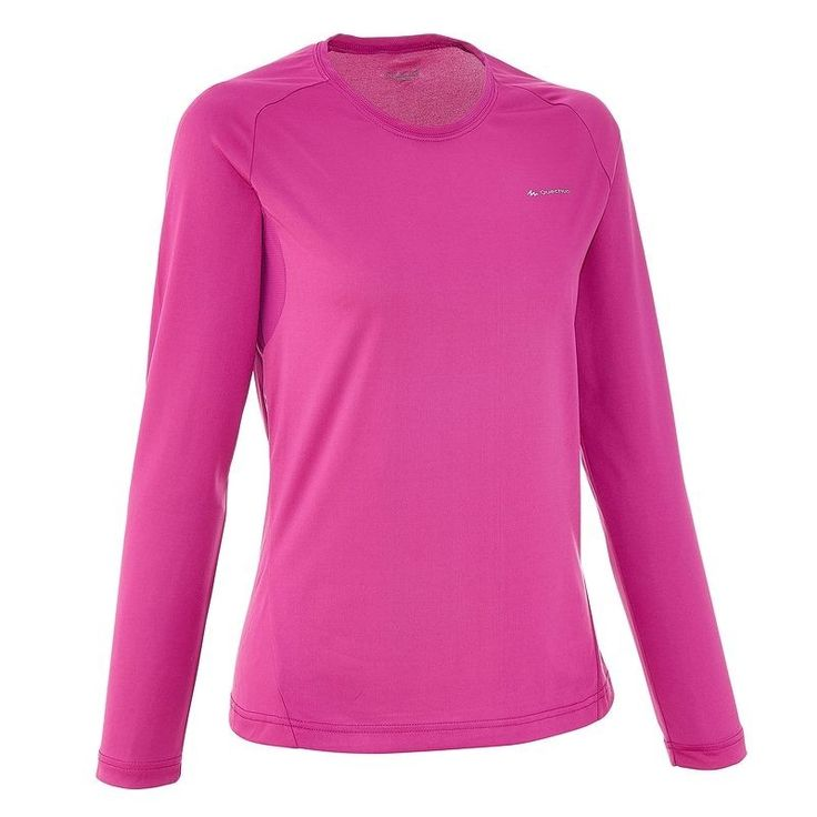 Check out our New Product  Techfresh 50 womens long sleeved hiking t shirt in purple Tops & Tees Made for mountain hikers looking for a lightweight, breathable long sleeved T shirt.Light, breathable, long sleeved T shirt with no unpleasant odours  ₹1,034