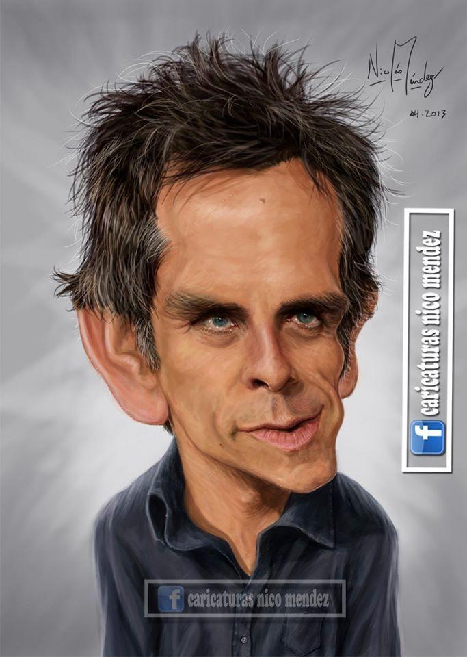 (Caricatura) Benjamin Edward Stiller, mejor conocido como Ben Stiller.