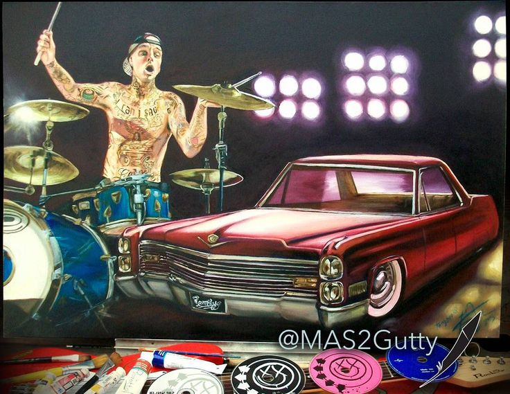 Down Rhythm @travisbarker @Cadillac Coupe DeVille 1966 #custom Oil/Canvas 🎨🎧🚗 #art #artwork #arte #artist #artoftheday #instaart #draw #paint #color #music #drums #rock #blink182 #car #cadillac #cardesign #ride #drive #love #pictures #red #instagood #amazing #style #tattoo #tattoo