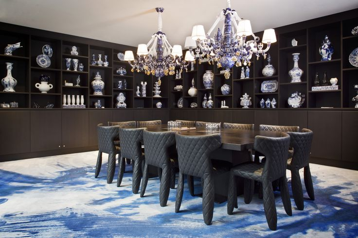 Enter Andaz Delft Blue Room at the Andaz Prinsengracht Amsterdam, an iconic interior  by Marcel Wanders