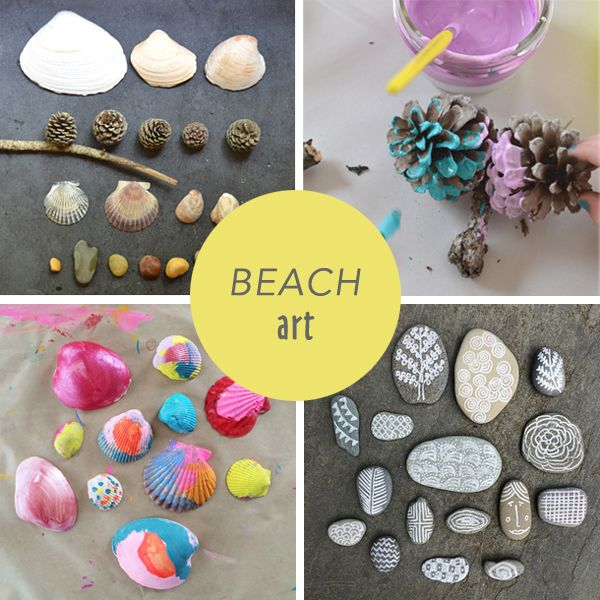 Beach finds summer art making peter rabbit stamps for Things to make arts and crafts