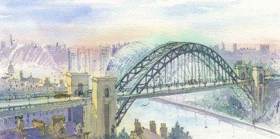 The Tyne Bridge smaller than the Sydney Harbour bridge, but it was the original. Limited edition print