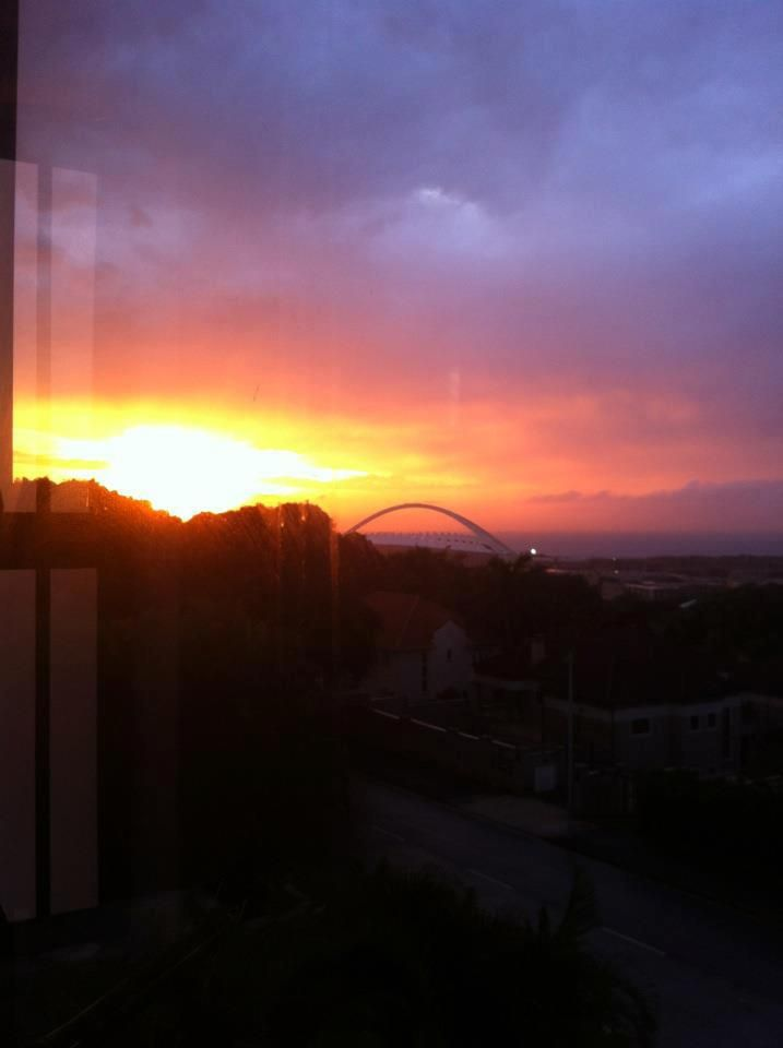 Durban sunrise from the heights