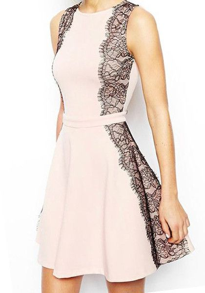 Baby-Pink Eyelash Lace Dress