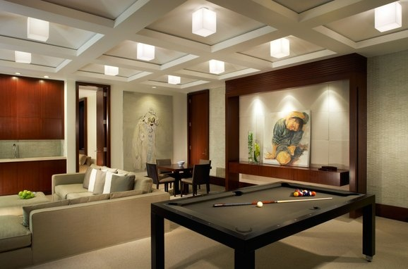 Good idea for a game room but with a more homey feel.  Game Room by Vogue Furniture
