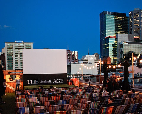 A cinema on a roof in the heart of Melbourne