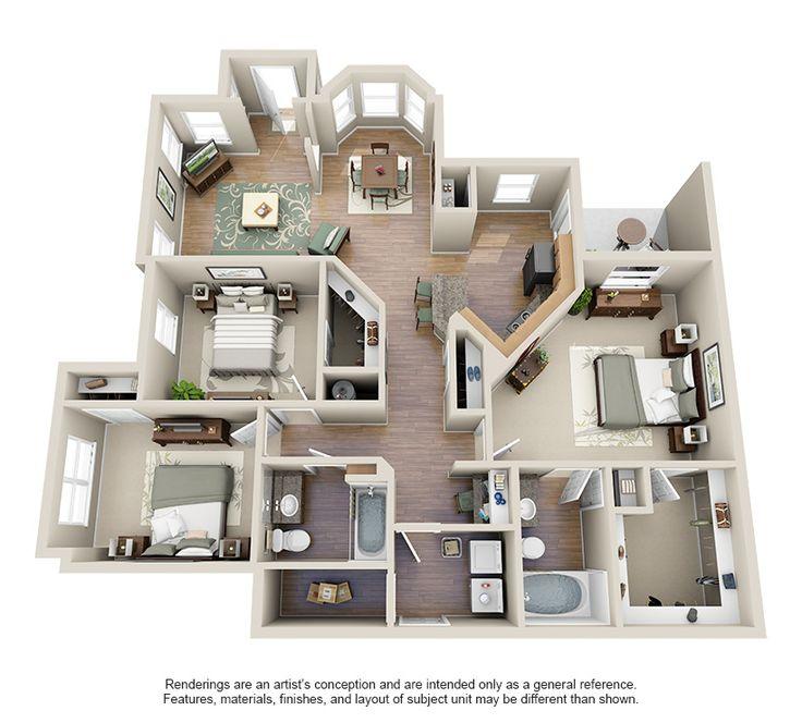 Best 25 one bedroom apartments ideas on pinterest nice for Floor plan creator windows 7