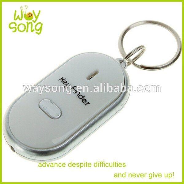 Venta caliente pvc keychain silbato mini gps tracker/keychain localizador gps/gps keychain