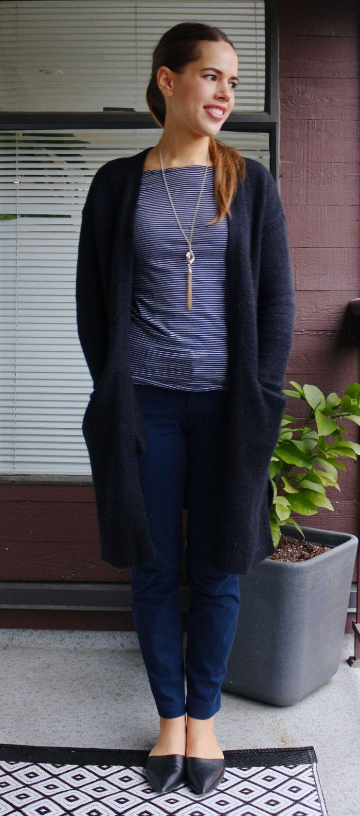 Jules in Flats - Cozy January Work Outfit