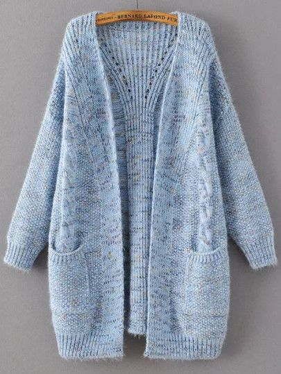 Jersey largo con bolsillo - azul