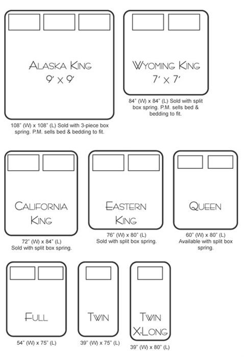 Best 25 Alaskan King Size Bed Ideas On Pinterest Measurements And California