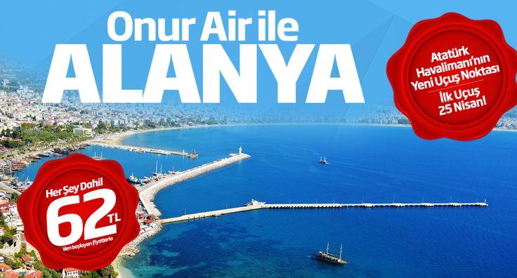 #Ucakbileti #Ucuzucakbileti #Ucakbiletleri - #Antalya, #Havayolları, #OnurAir - Onur Air'in yeni uçuş noktası - Atatürk Havalimanı'ndan Alanya-Gazipaşa - http://www.ucakbiletibul.com/ucuz-ucak-bileti-fiyatlari/yurtici-ucak-bileti/antalya/onur-airin-yeni-ucus-noktasi-ataturk-havalimanindan-alanya-gazipasa.htm - Mustafa Kemal Atatürk Havalimanı'ndan Alanya'ya sefer düzenleyen ilk şirket olan Onur Air bu sayede Antalya'nın doğusundaki dinlence böl