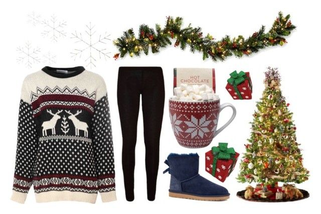 Exited for christmas❤️ by leandra-rebecca on Polyvore featuring polyvore, fashion, style, Glamorous, UGG Australia, General Foam and Restoration Hardware