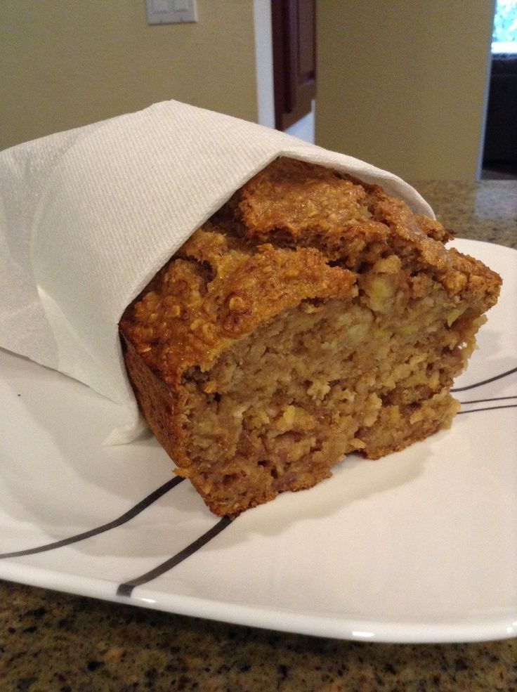 Healthy Oatmeal Banana Bread | Weight control | Pinterest