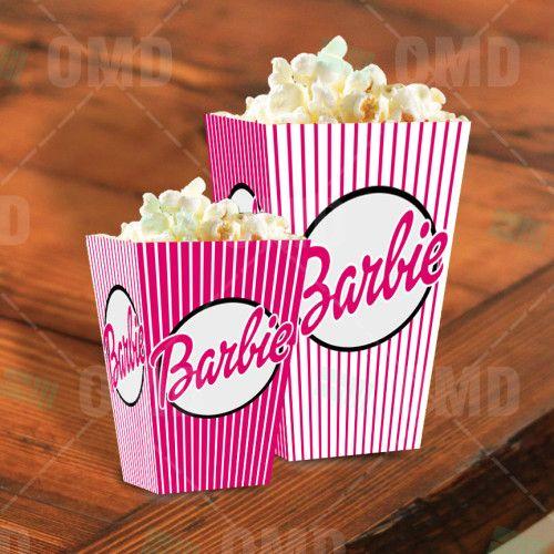 Barbie Cartoon Party Popcorn Boxes