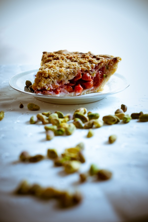 Sour Cherry Pie with Pistachio Crumble - cherry is my favorite pie but ...