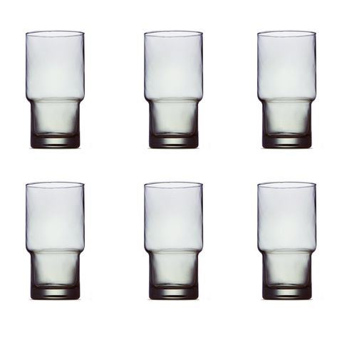 Hiball Glasses - Grey, Set of 6