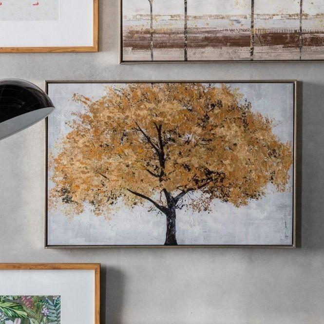 Midas Tree Framed Art In 2019 Framed Canvas Prints Tree Artwork Framed Wall Art