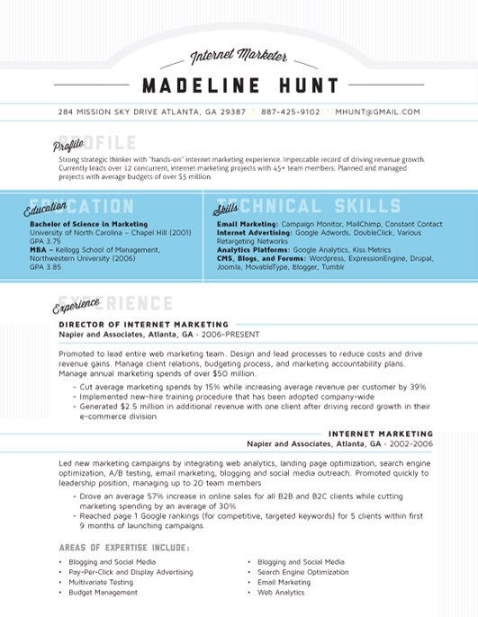 resume template market square blue loft resumes