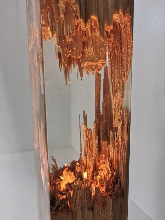 Epoxy Wood Lamp Lamp Night Lamp Resin Table Decor Decor Light Epoxy Resin Wood Resin Table Wood Lamp Design