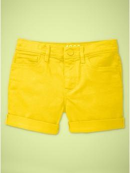 #neon shorts daffodil #gap