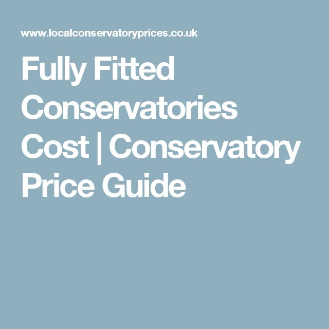 Fully Fitted Conservatories Cost | Conservatory Price Guide